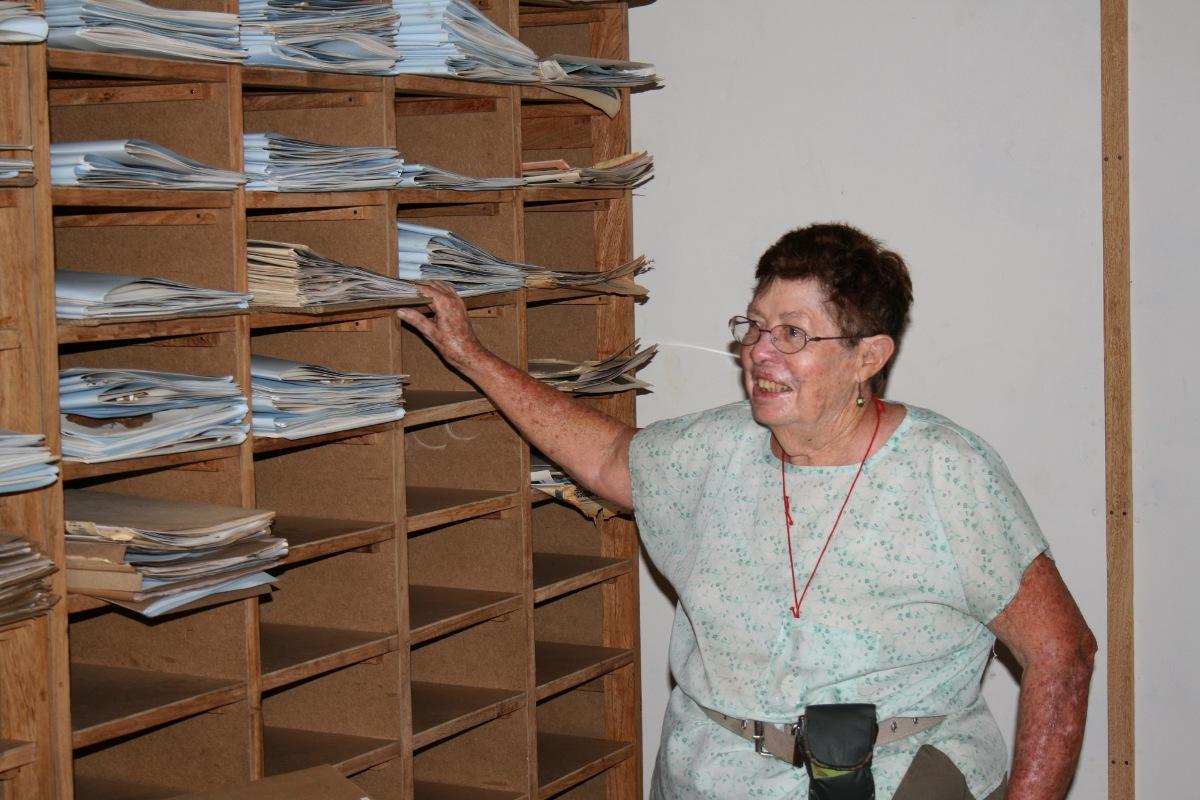 Meg Coates Palgrave in the new TCT-Catapu Cheringoma herbarium