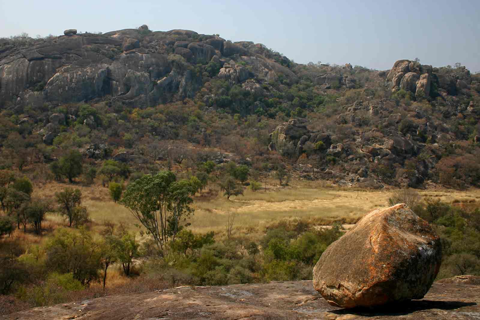 View over granite hills.