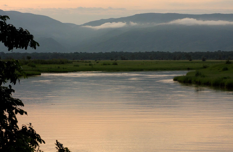 Dusk falls over the Zambezi River