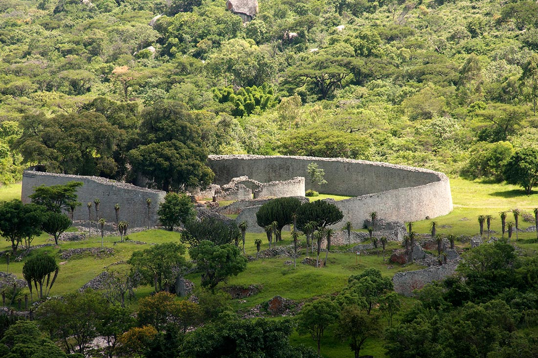 Great Enclosure as seen from the Hill Complex