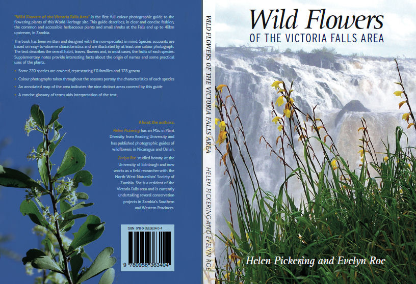 Front and back cover of Wild Flowers of the Victoria Falls Area