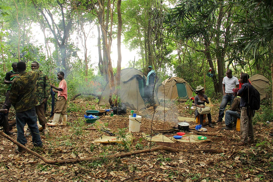 Camp at Magorogodo