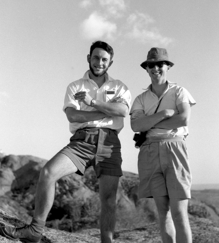 James Phipps (left) and Rawdon Goodier (right) at Domboshawa in 1961.